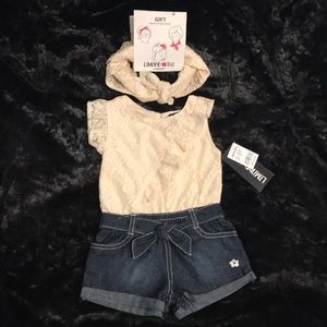 Limited Too Bodysuit Romper With Hair Band Bandage